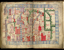 John Harding's Map Of Scotland, Ca. 1450 f.s 226v-227